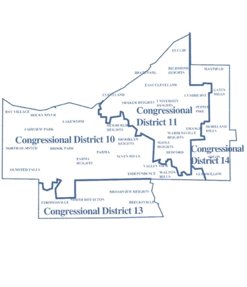 2002-2012 OhiO District Maps Cuyahoga County Congressional Districts 10 Office of the Ohio Secretary of State
