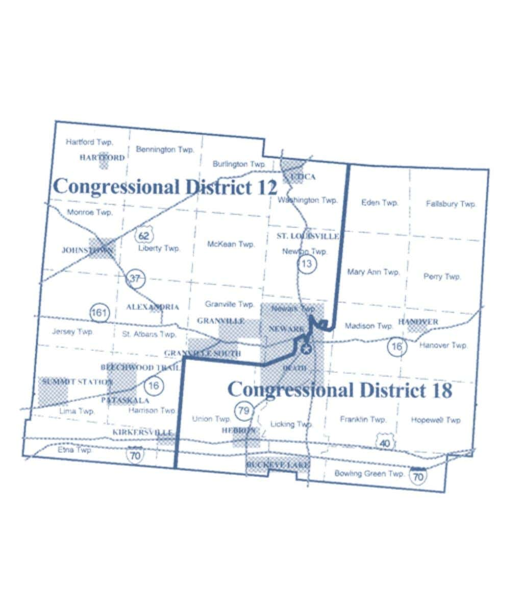 2002-2012 OhiO District Maps Licking County Congressional Districts Office of the Ohio Secretary of State 13