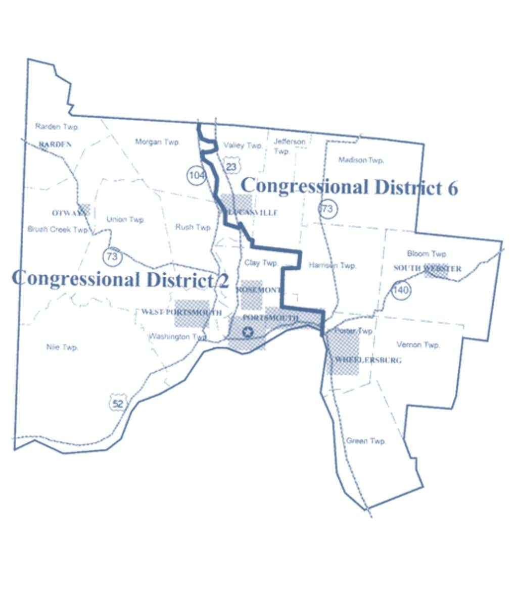 2002-2012 OhiO District Maps Scioto County Congressional Districts 22 Office of the Ohio Secretary of State