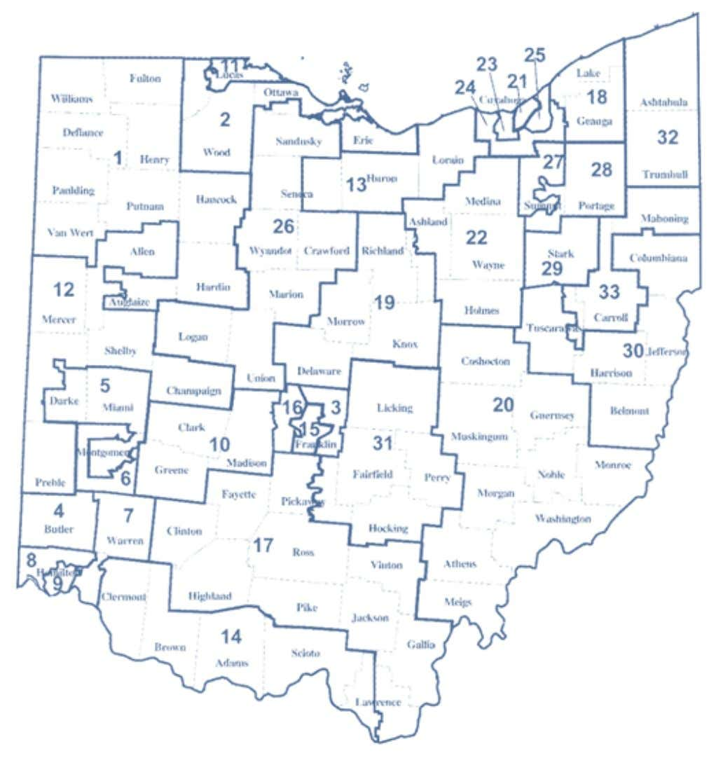 2002-2012 OhiO District Maps Ohio Senate Districts Map Office of the Ohio Secretary of State 29