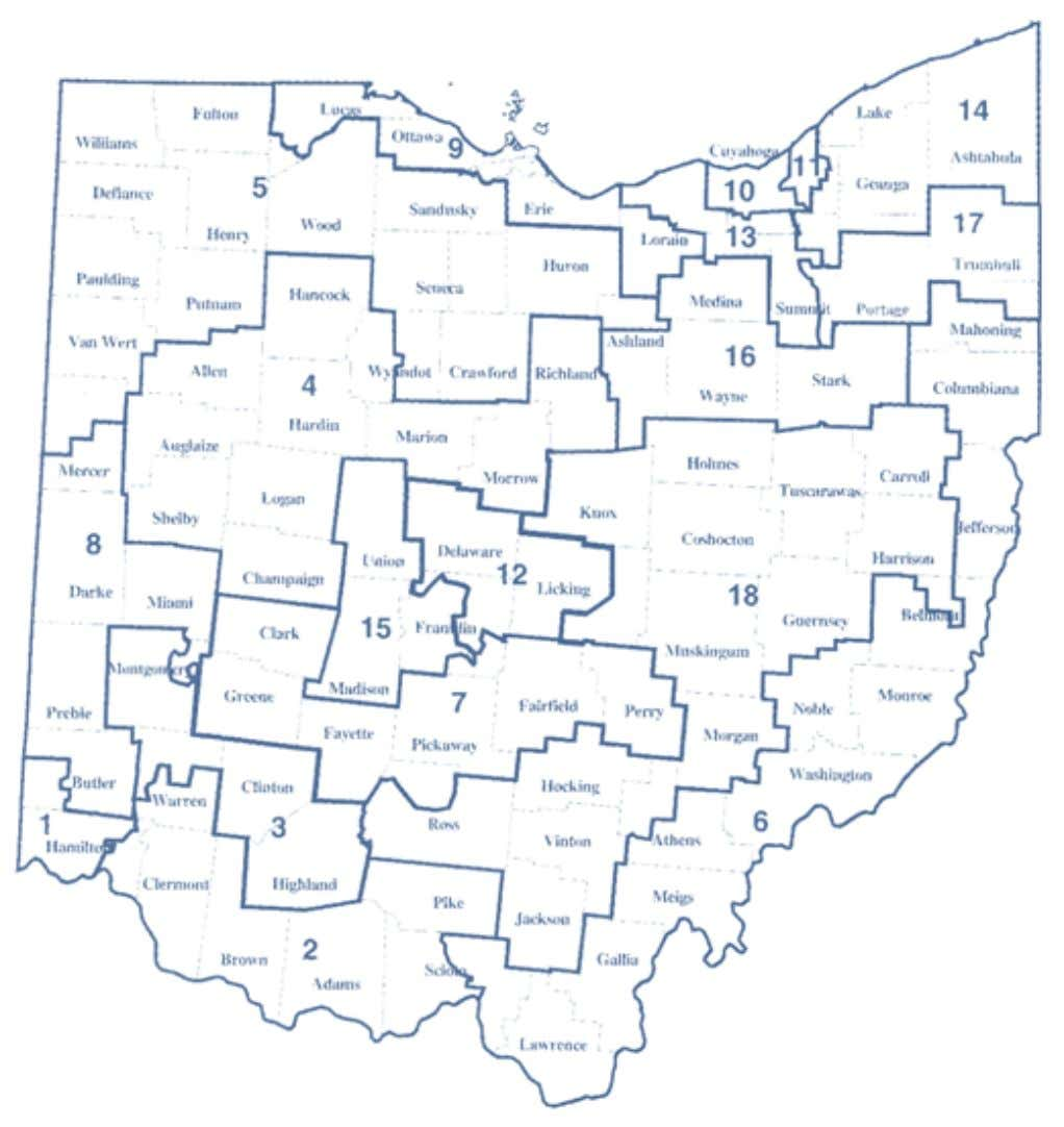 2002-2012 OhiO District Maps Ohio Congressional Districts Map 4 Office of the Ohio Secretary of State