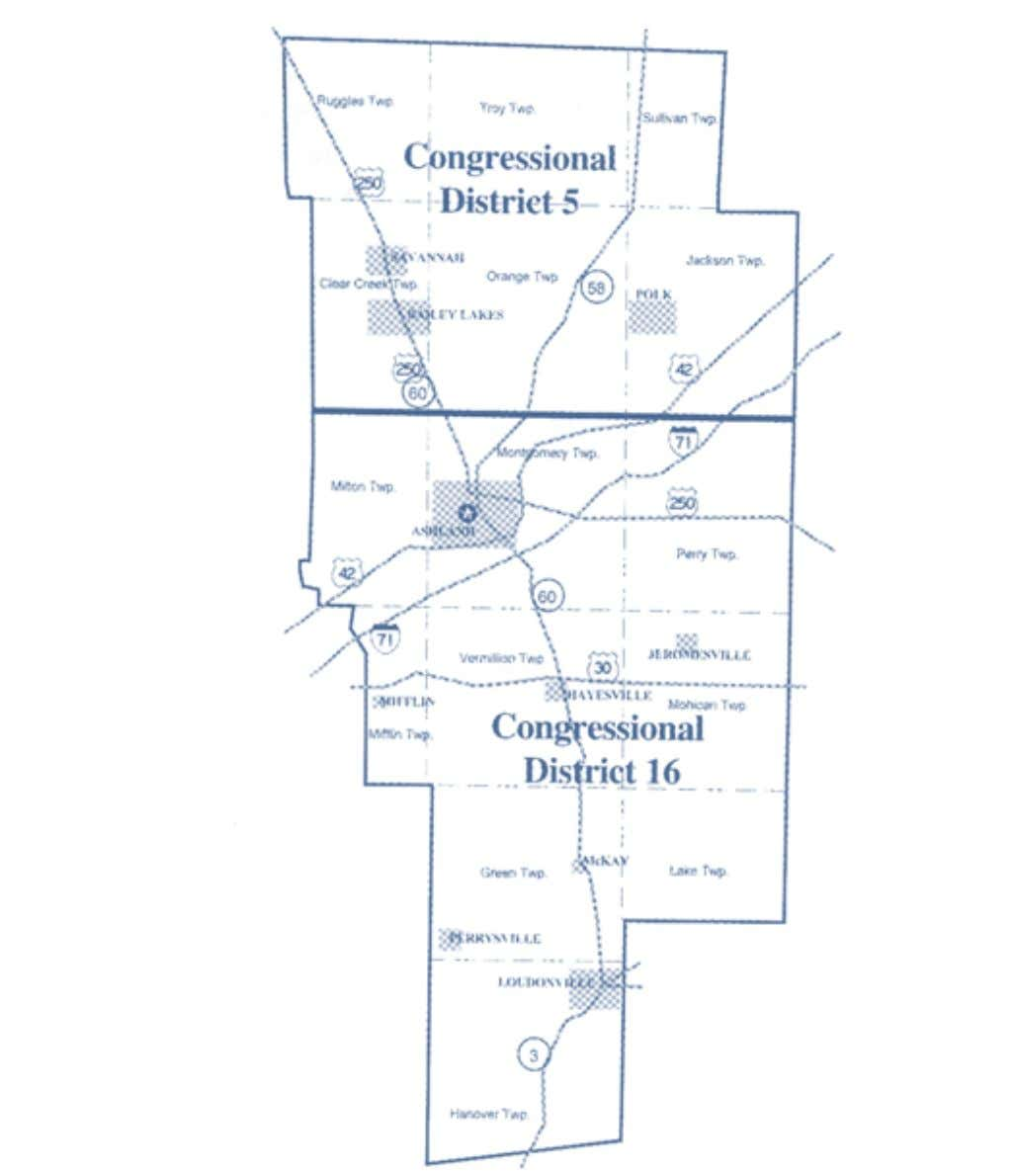 2002-2012 OhiO District Maps Ashland County Congressional Districts 6 Office of the Ohio Secretary of State