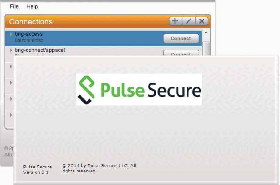 Client Interface and Splash Screen with Branding Graphics Related Documentation  Pulse Secure Client Status Icons