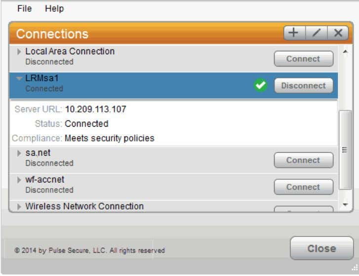 Figure5: Pulse Secure Client Interface (Windows Version)  Odyssey Access Client is a wireless supplicant. Pulse,