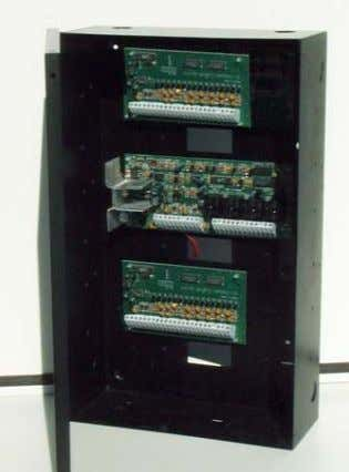six (6) KT-PC4108A/KT-PC4216 modules, mountable on both sides of the cabinet (three modules on each side)