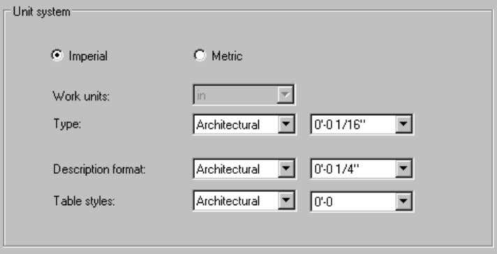 following options display in the right part of this dialog. Use this tab to define AutoCAD®