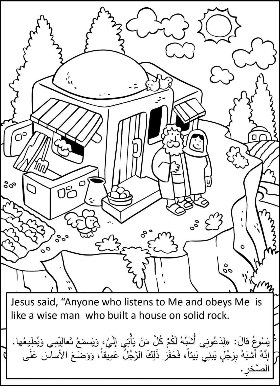 "Jesus said, ""Anyone who listens to Me and obeys Me is like a wise man"