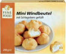 8 0,53 Fine Food Mini Windbeutel, tk. IQF* Art.-Nr. 103419 250-g-Pkg. 1. 1 9 1,31 Tante
