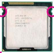 Key Pin One Corner of the CPU Socket Notch LGA1155 CPU Triangle Pin One Marking on