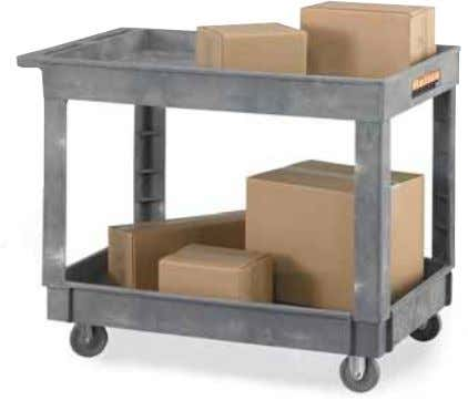 "4 "" 2 18 7 / 8 "" 5244429-R 166.00 Economical Tray-Shelf Carts • Structural foam"