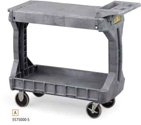 Trucks & Carts | UTILITY CARTS 5 Shelf sides flip up or down A 5575000-S B