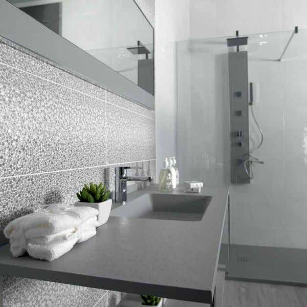 BOuTIQuE 25x70 wall Tiles WHITE BODY GLOSS BRILLO w27C 25x70 w27C 25x70 K42za000 BouTique BlanCo