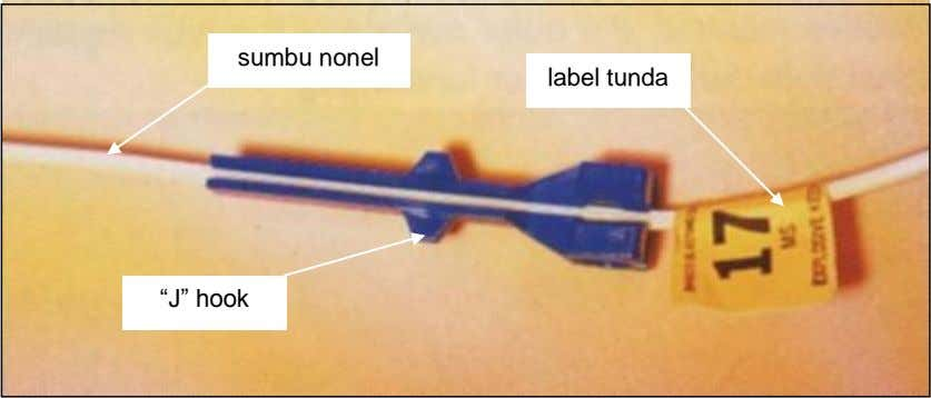 "sumbu nonel label tunda ""J"" hook"