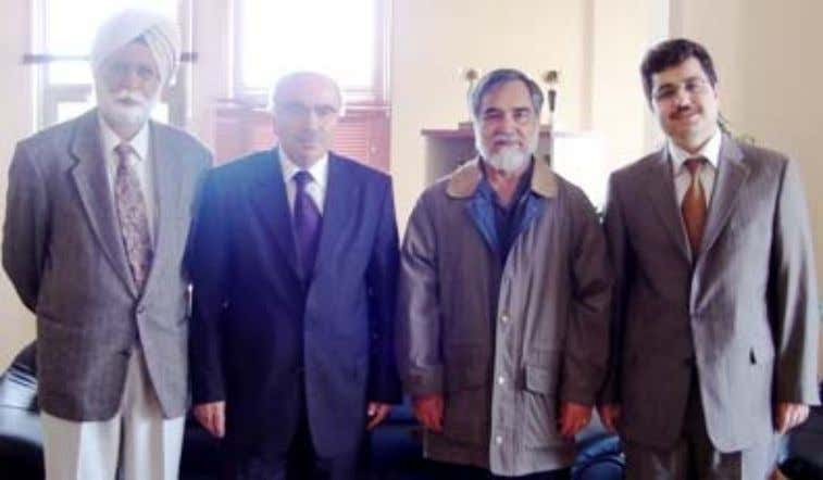 of Divinity, Marmara University, Uskudar, Liaison Officer. Fig. 3. (L to R) Prof Devinder Singh Chahal,