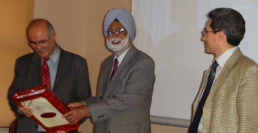 Mehmedoglu, Faculty of Divinity, Marmara University (Left). Fig. 6. Prof Devinder Singh Chahal, President, IUS (Center)