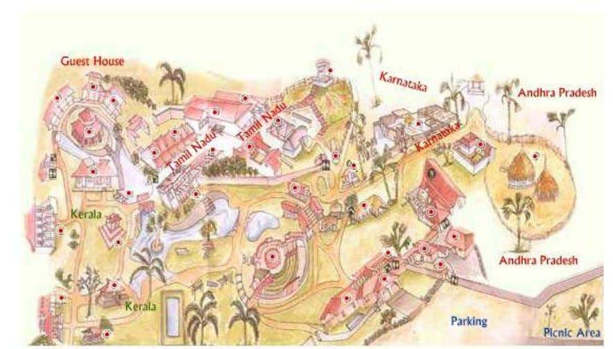 Map of Dakshin Chitra A brief note on the Domestic Architecture of Tamil Nadu Tamil Nadu