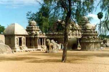 are attributed to the period of Narasimhavarman-I Mamalla. Of the nine monolithic temples found in Mahabalipuram,