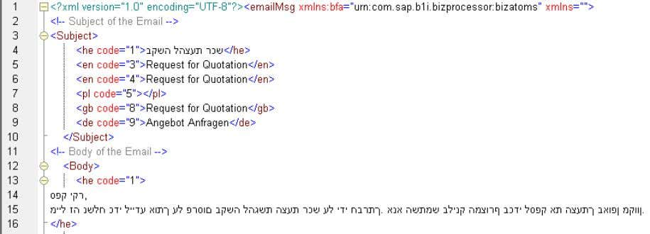 editor and browsing to the BizStore path mentioned above. The XML template can be accessed through