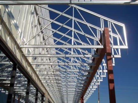 steel members, especially in short-span applications. Figure 1.1: Cold-Formed Steel Structure (