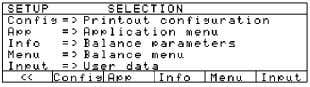 "program: Press M > ""SETUP SELECTION"" is displayed. ● Select User Data: Press the Input soft"
