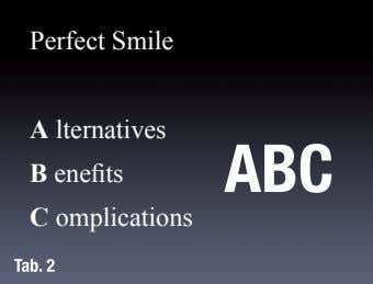 Perfect Smile A lternatives ABC B enefits C omplications