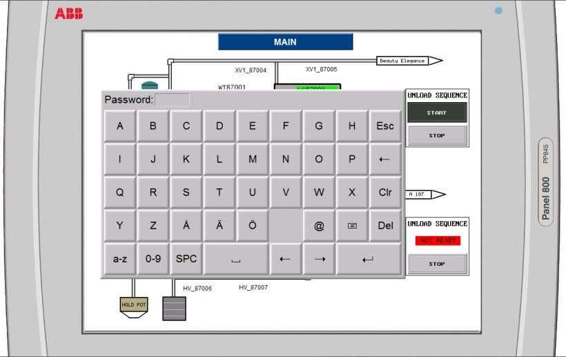 Panel Builder 800 Manual Fig 22: Password Protected Start Button  18 