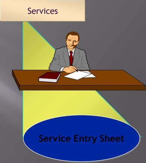 Services Service Entry Sheet