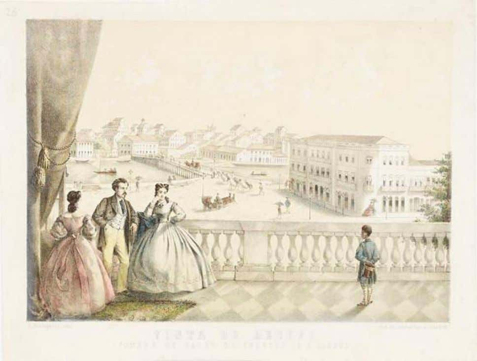 Vista do Recife tomada do Salão do Theatro de S. Isabel, c.1863