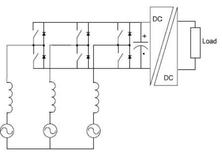 in size compared with line frequency input inductors. Figure 2. 5 - Six Switches Boost Power