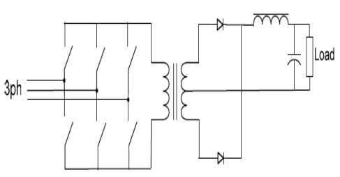 of requiring AC switches and a complex control system. Figure 2. 10 - Six Switches Single-Stage