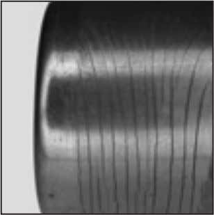 on a needle roller bearing outer ring are depicted here. Fig. 75. Very high loading resulted