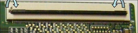 Then the flex cable can be easily removed. Fig 2 Unlocked To remove the LVDS cables