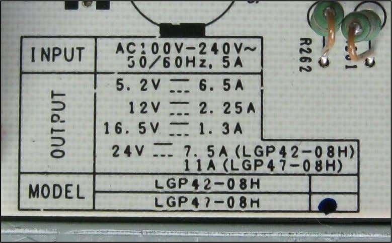 reading under the Label's maximum currents output reading The AC input Fuse draws a maximum current