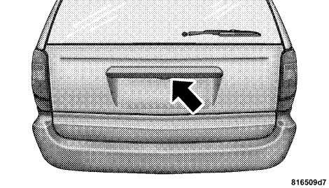 THINGS TO KNOW BEFORE STARTING YOUR VEHICLE 35 Liftgate Release Switch If the liftgate is locked