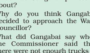 the Ward Councillor? What did Gangabai say when the Commissioner said that there were not enough