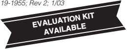 19-1955; Rev 2; 1/03 EVALUATION AVAILABLE KIT