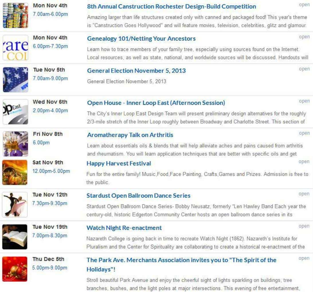 online visiT MinorityReporter.net click on The evenTs Tab! for more deTails and a compleTe lisTing of