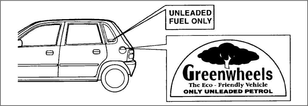 BEFORE DRIVING 70F-74E FUEL RECOMMENDATION You must use unleaded petrol with an octane number (RON) of