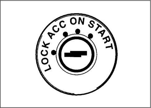 by reaching through the steering wheel. IGNITION SWITCH 70F-02-002 The ignition switch has the following four