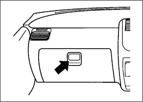 in the ashtray: it could create a fire hazard. GLOVE BOX 72F-05-003 To open the glove