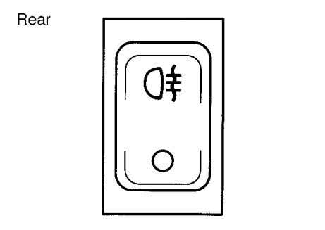 INSTRUMENT PANEL 70F-74E FOG LIGHT SWITCH (if equipped) The fog light comes on when the fog