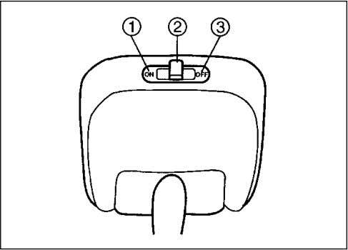 parts or the sun visor can be damaged. INTERIOR LIGHT SWITCH 70F-04-013 This light switch has