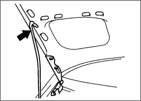 illustration. While pushing the lever, lift up the bonnet. 3) 70F-04-019 Continue to lift up the