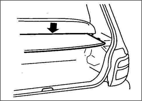 an accident occurs. LUGGAGE COMPARTMENT COVER (if equipped) 70F-04-023 Luggage or other cargo placed in the