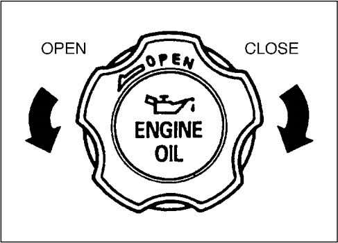 70F-74E INSPECTION AND MAINTENANCE 79F-09-003E Refilling Remove the oil filler cap and pour oil slowly through