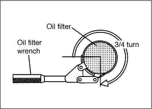 hand until the filter gasket contacts the mounting surface. 70F-07-011E w w w w w CAUTION