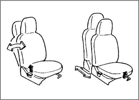 70F-74E BEFORE DRIVING FRONT SEAT ADJUSTMENT 72F-03-016 w w w w w WARNING Never attempt to