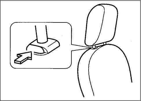 top of the head restraint closest to the top or your ears. 70F-01-020 There are two