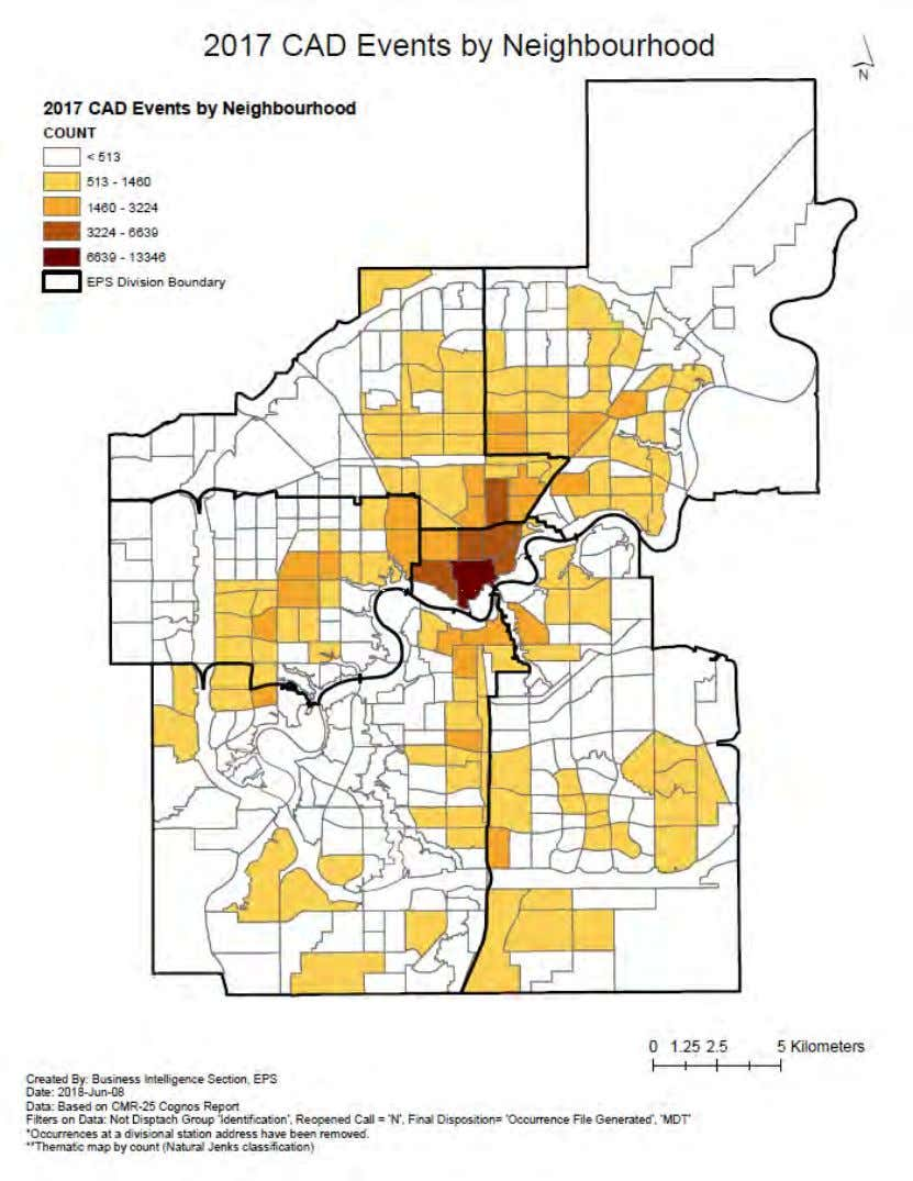 EPS Street Check Policy & Practice Review Figure 10: 2017 Crime Heat Map (Computer-Aided Dispatch) Page