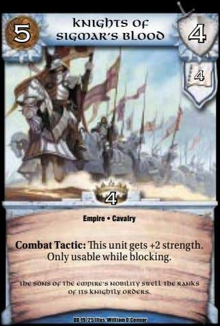 5 Knights of Sigmar's Blood 4 4 4 Empire • Cavalry Combat Tactic: is unit